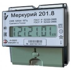 Счетчик электроэнергии однофазный Меркурий 201.8 5/80А Т1 D 230В ЖК
