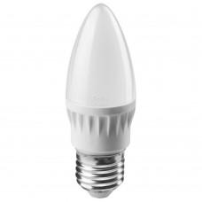 Лампа светодиодная LED 6вт E27 белый матовая свеча ОНЛАЙТ