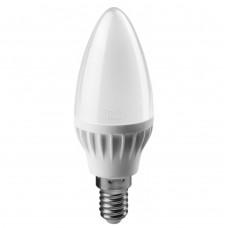 Лампа светодиодная LED 6вт E14 белый матовая свеча ОНЛАЙТ
