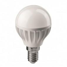 Лампа светодиодная LED 6вт E14 теплый матовый шар ОНЛАЙТ