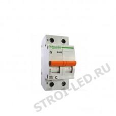 Выключатель автоматический двухполюсный 10А 1п+N С ВА63 4.5кА