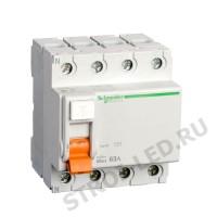 Выключатель дифференциального тока (УЗО) 4п 63А 30мА ВД63 АС