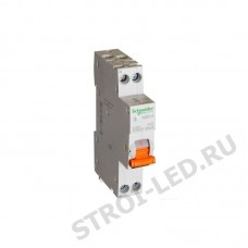 Выключатель автоматический дифференциальный АД63К 1п+N 25А 30мА С АС 18мм