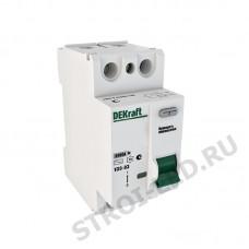 Включатель дифференциального тока ВДТ двухполюсный 32A 30мА УЗО-03
