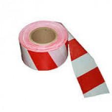 Лента для ограждения 50х200 бело-красная неклейкая МИЛЕН