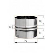 Адаптер ПП d115 нерж (0,5мм)