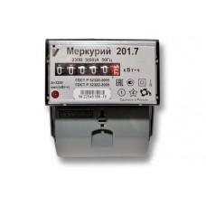 Счетчик электроэнергии однофазный однотарифный Меркурий 201.7 60/5 Т1 D 230В ОУ