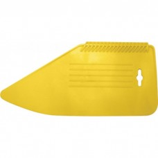 Шпатель прижимной, для разглаживания обоев, пластик. желтый, 280мм