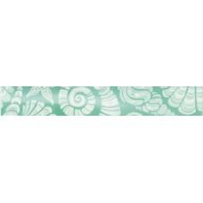 Бордюр Лазурь ракушки бирюзовый 350х54